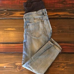 H&M cropped ankle length maternity jeans—size 10